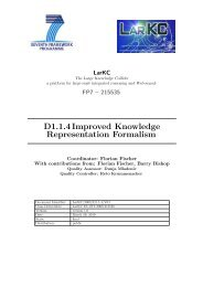 D1.1.4Improved Knowledge Representation Formalism - LarKC