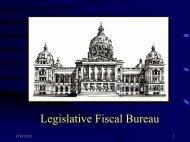 Legislative Fiscal Bureau