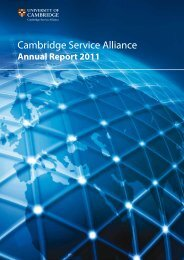 Annual Report 2011 - Cambridge Service Alliance