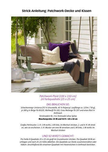 Strick-Anleitung: Patchwork-Decke und Kissen - Wunderweib
