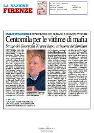 Centomila per le vittime di mafia - Comune di Firenze