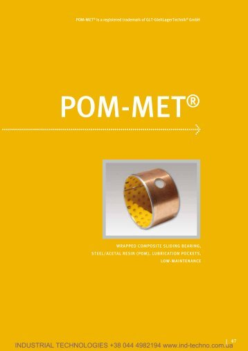 Wrapped composite sliding bearing, steel/acetal resin (POM