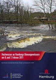 Hochwasser an Hamburgs Binnengewässern am 6. und 7. Februar ...