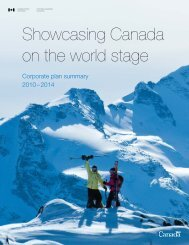 Showcasing Canada on the world stage - Canadian Tourism ...