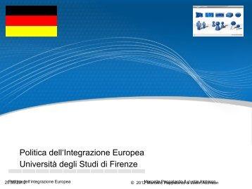 Pros and Cons of the European Integration - Università degli Studi di ...
