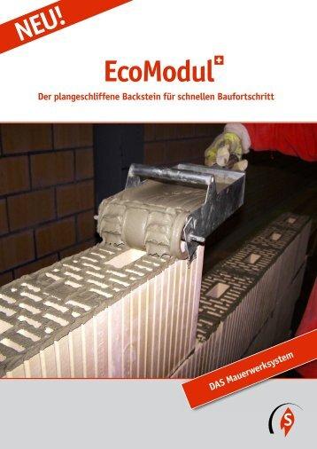 Flyer EcoModul - Ziegelei Schumacher Körbligen Gisikon