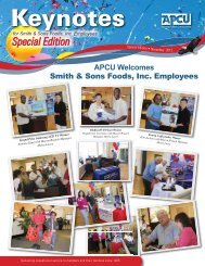APCU Welcomes Smith & Sons Foods, Inc. Employees