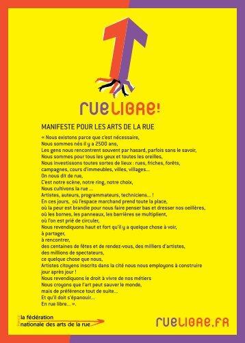 Manifeste Rue Libre