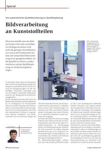 Bildverarbeitung an Kunststoffteilen - visicontrol