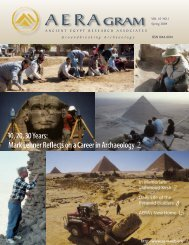 Spring 2009 - Ancient Egypt Research Associates