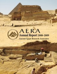 Download a PDF of our 2009 Annual Report - Ancient Egypt ...