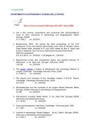 11 marzo 2008 DIPARTIMENTO DI ASTRONOMIA E SCIENZA ...