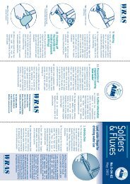 Solders & Fluxes - Water Regulations Advisory Scheme