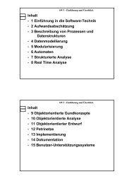 1 Einführung in die Software-Technik 2 Aufwandsabschätzung 3 ...