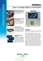 Electrónica de pesaje - METTLER TOLEDO