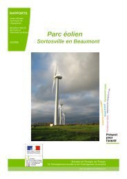 Parc éolien de Sortosville en Beaumont (50) - Urbamet