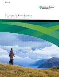Solutions for Every Investor - American Century Investments