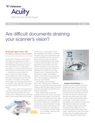 Are difficult documents straining your scanner's vision? - Visioneer