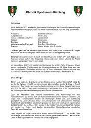 Chronik Sportverein Rümlang - SV Rümlang