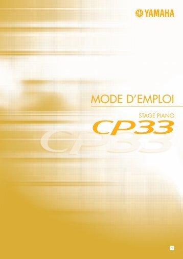 MODE D'EMPLOI - Yamaha Downloads