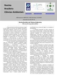 Editorial - RBCIAMB - Revista Brasileira de Ciências Ambientais