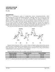 HEPARIN SODIUM INJECTION, USP - Hospira