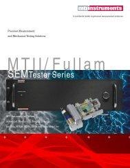 SEMTester Series - MTI Instruments Inc.