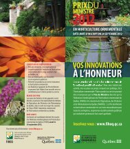 À L'HONNEUR - Fédération interdisciplinaire de l'horticulture ...