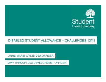 disabled student allowance – challenges 12/13 - HEI Services