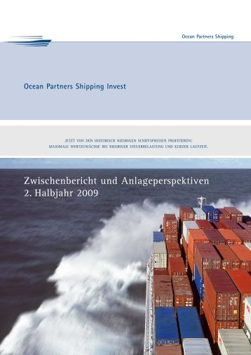 Zwischenbericht und Anlageperspektiven 2. Halbjahr 2009