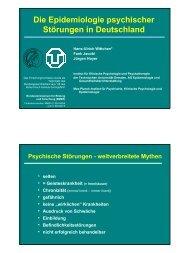Epidemiologie-Wittchen - psychotherapie 1