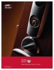 Sleek Networked Access Control - Access Control Solutions from ...