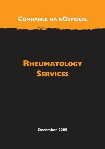 Rheumatology Services.qxd - Irish Health Repository