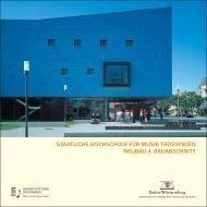 Staatliche Hochschule für Musik Trossingen Neubau 4. Bauabschnitt