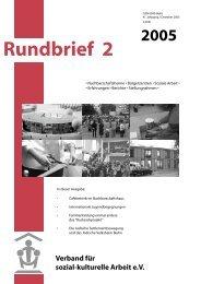 Rundbrief 2005 -2-.pdf - Verband für sozial-kulturelle Arbeit eV