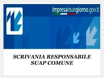 SCRIVANIA RESPONSABILE SUAP COMUNE