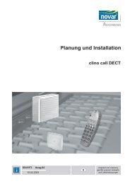 Planung und Installation clino call DECT