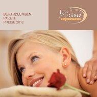 BEHANDLUNGEN PAKETE PREISE 2012 - Garberhof