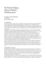 En litterær helgen, Ideens skribent, Følelsens poet - Johannes ...