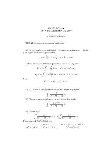 Gabarito - Professores da UFF