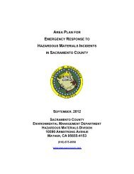 Area Plan for Emergency Response to Hazardous Materials ...
