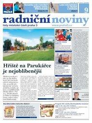 Radniční noviny - září 2011 - Praha 3
