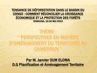 Perspectives en matière d'aménagement du territoire au ... - PROFOR