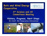 Post-Construction Studies - Bats and Wind Energy Cooperative