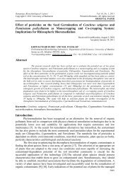 Effect of pesticides on the Seed Germination of ... - Rombio.eu