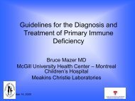 Guidelines for the Diagnosis and Treatment of Primary Immune ...