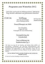 Programm zum Winterfest 2012 - Bildungszentrum Stübenhofer Weg