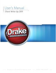 User's Manual >>> - Drake Software Support