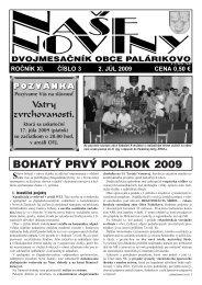 Číslo 3/2009 - Obec Palárikovo