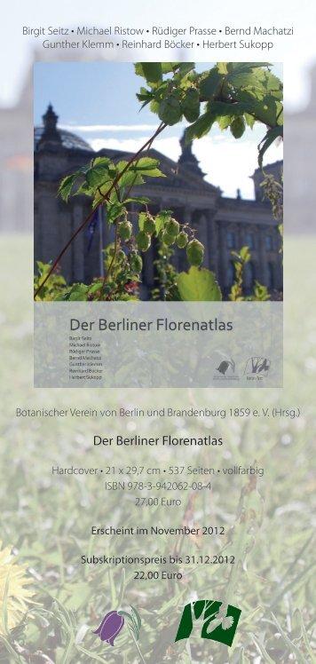Der Berliner Florenatlas - Botanischer Verein von Berlin und ...